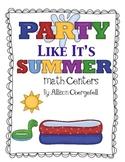 Summer Fun Beach Math Centers