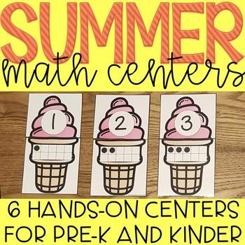 Summer Fun Beach Themed Math Centers