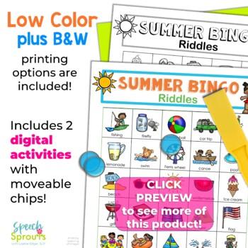 Summer Bingo Riddles Game