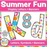 Bulletin Board Letters & Editable Bunting: Summer Fun| Back to School Printables