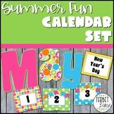Summer Fun Bulletin Board Pocket Calendar Set