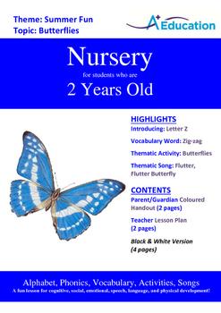 Summer Fun - Butterflies : Letter Z : Zig-zag - Nursery (2