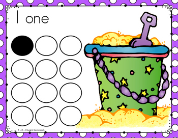 Summer Fun Cap Counting Activity Cards