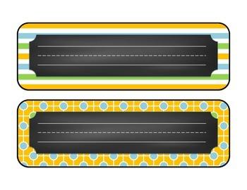 Summer Fun Chalkboard Desk Name Plates