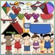 Summer Fun Clip Art Bundle - Summer / Swimming - 2 Clip Art & B&W Sets