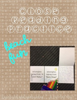 Summer Fun Close Reading and Writing Activities!
