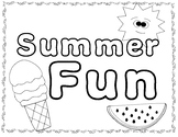 Summer Fun Color Sheet