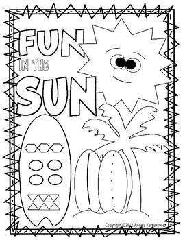 Summer Fun Color Sheet