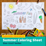 Summer Fun Coloring Page (11x17)