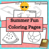 Summer Fun Coloring Sheets with Beach Camping and More