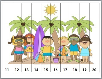 Summer Math Number Puzzles