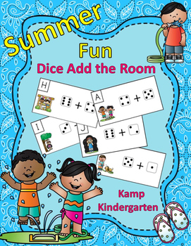 Summer Fun Dice Add the Room Sums to 10