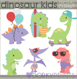 Summer Fun Dinosaur Clip Art