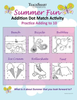Summer Fun Dot Match Activity
