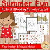 Summer Fun Fine Motor and Visual Motor Skills Packet