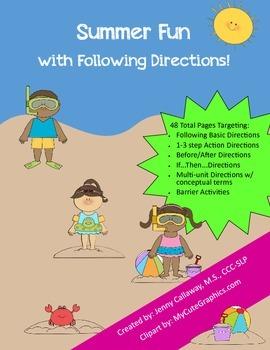 Summer Fun ~ Following Directions!