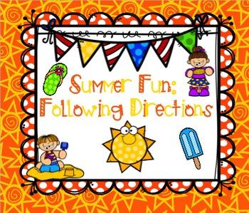 Summer Fun: Following Directions