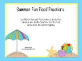 Summer Fun Food Fractions Sort