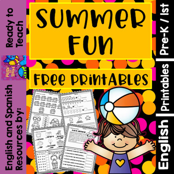 Summer Fun - Free Printables - 2 Activities per sheet