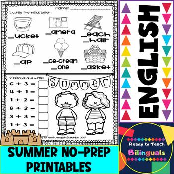 Summer Fun - Free Printables - 2 Activities per sheet