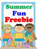 Summer Fun Freebie