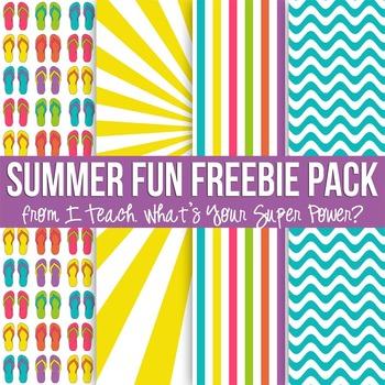 Summer Fun Freebie Paper Pack