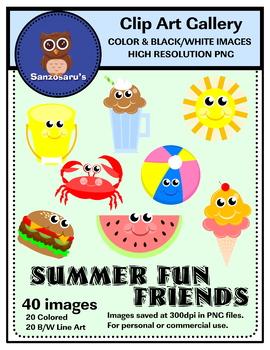 Summer Fun Friends Clipart {Sanzosaru's}