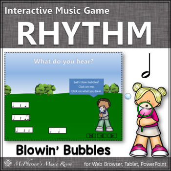 Music Game: Half Note Interactive Rhythm Game {bubbles}