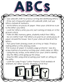 Summer Fun Idea Packet