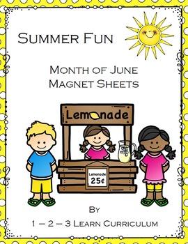 Summer Fun June Magnet Sheets