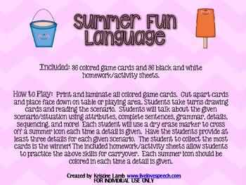 Summer Fun Language