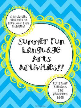 Summer Fun Language Arts Activities (Common Core aligned)