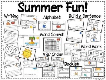 Summer Fun/ Language Arts and Math / Bonus Calendar Pieces / Fish