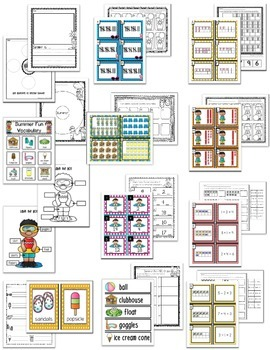 Summer Fun - Literacy, Math and Writing MEGA Unit