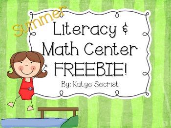 Summer Fun Literacy and Math {Mini} Freebie
