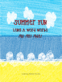 Summer Fun Long A Word Works--FREE