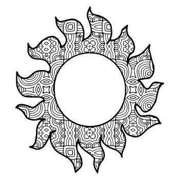 Summer Fun Mandala and Zentangle Designs Coloring Book