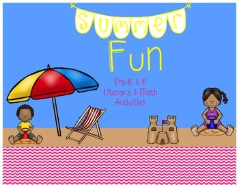 Summer Fun Math & Literacy Activities & Worksheets