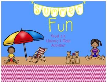 Summer Fun Math & Literacy Activities & Worksheets