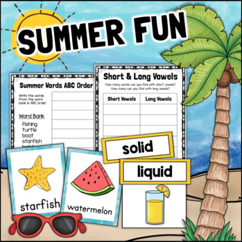 Summer Fun MATH SCIENCE LITERACY Centers