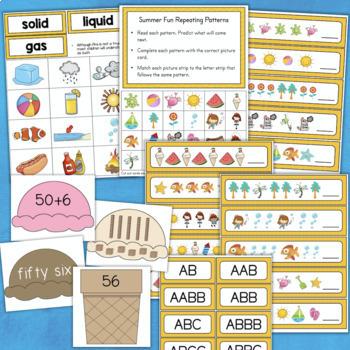 Summer Activities MATH SCIENCE LITERACY 1st Grade