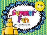 Summer Fun Math Stations---10 Common Core Aligned Math Cen