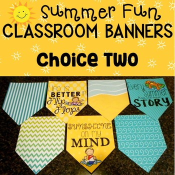Summer Fun May Banner Set for the Classroom
