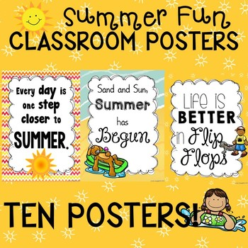 Summer Fun May Poster Set for the Classroom