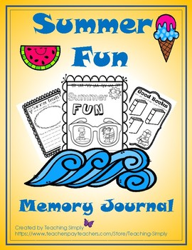 Summer Fun Memory Journal - Writing - Seasonal