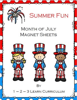 Summer Fun - Month of July - Magnet Sheets
