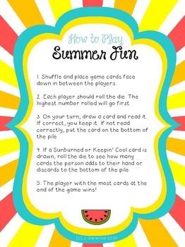 Summer Fun! Multisyllabic Words with Prefixes Decoding/ Fluency Game