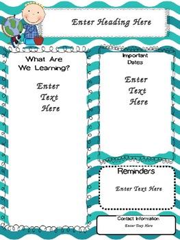 summer fun newsletter templates by becky blair tpt