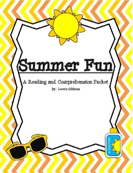 Summer Fun Non-Fiction Reading and Comprehension Packet