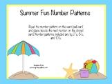 Summer Fun Number Patterns Match